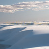White Sands National Monument, Windblown gypsum drifts shape the landscape.