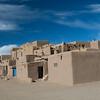 Adobe construction in Taos Pueblo.