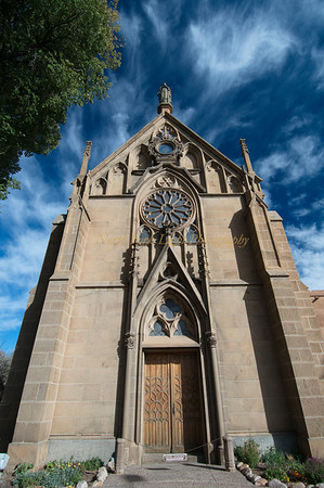 A rarity--non-adobe construction of the Loretto Chapel in Santa Fe.