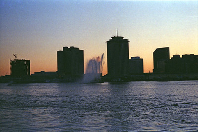 On the Mississippi, just out from the Riverwalk Mardi Gas, 1987