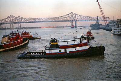 On the Mississippi, just out from the Riverwalk Mardi Gras, 1987