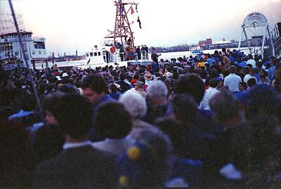At the Riverwalk Mardi Gras, 1987