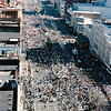 Mardi Gras, 1987, Canal Street<br /> <br /> (This view is from the roof of the Maison Blanche building)
