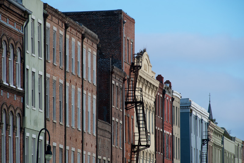 """<span id=""""title"""">Compact</span> <em>French Quarter</em> One of my first views into the French Quarter - it's amazing how compact the area is. All of the buildings are very similar is some ways (3 stories, lots of brick, lots of iron), but yet they're all unique in design and color."""