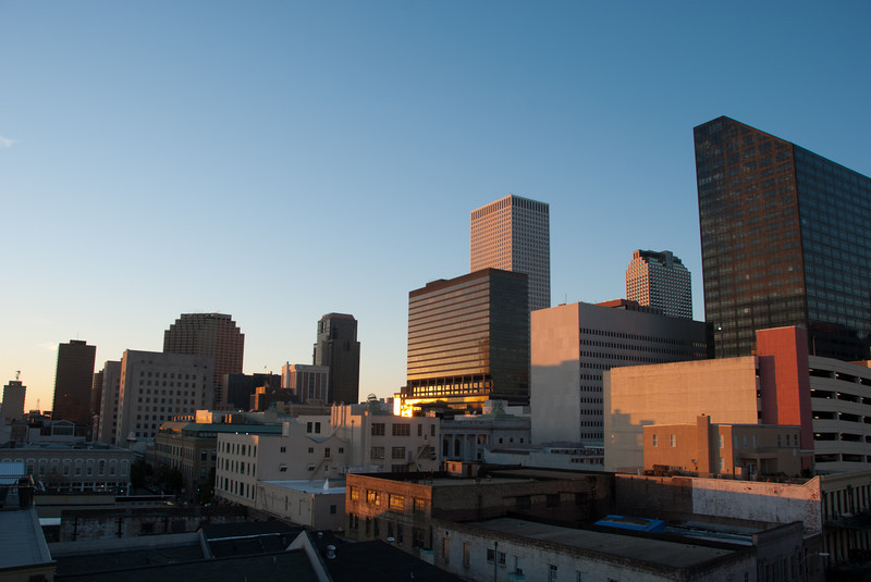 """<span id=""""title"""">Sunset</span> <em>New Orleans</em> Sunset from our hotel roof - skip ahead three pics to see sunrise."""
