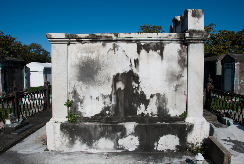 "<span id=""title"">Stained</span> <em>Lafayette Cemetery No. 1</em> Some rather creepy stains on the side of a tomb."