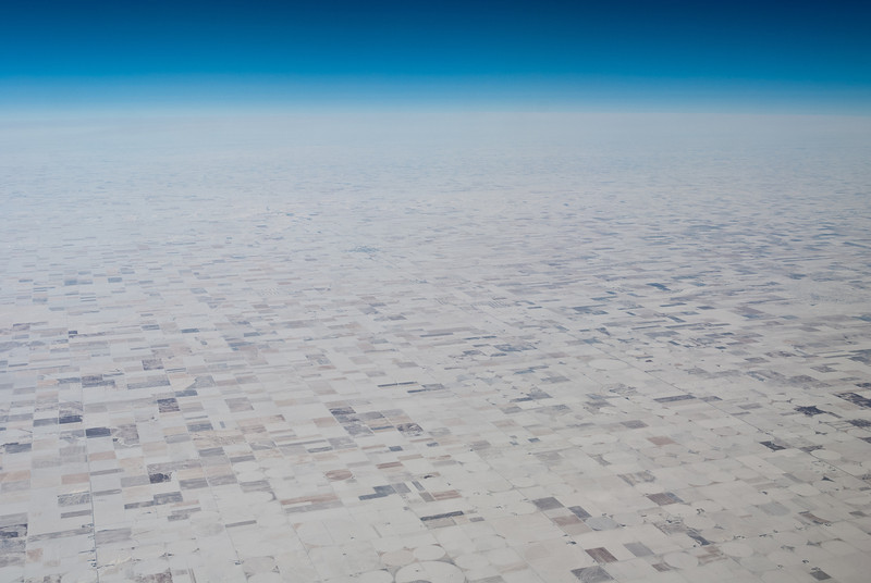 "<span id=""title"">Kansas</span> <em>Flight from LAX to STL</em> Covered in snow... still not very exciting."