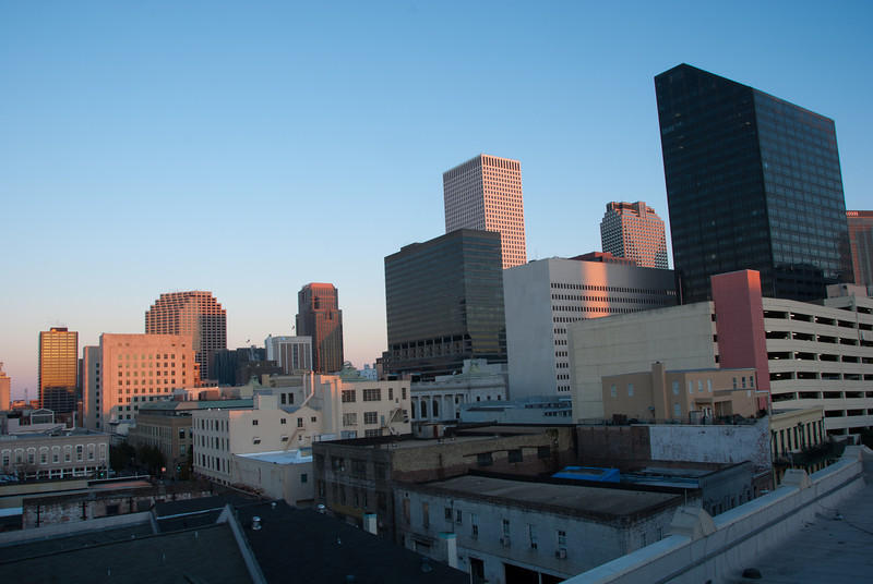 """<span id=""""title"""">Sunrise</span> <em>New Orleans</em> Sunrise from our hotel roof - go back three pics to see sunset."""