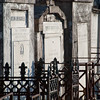 "<span id=""title"">Fences</span> <em>St. Louis Cemetery No. 2</em> A big difference between this cemetery and Lafayette No. 1 is that most of these tombs have fences surrounding them. At Lafayette you could wander in between them pretty freely."