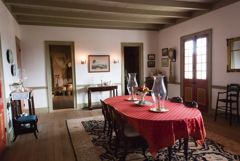 """<span id=""""title"""">Dining Room</span> <em>Laura Plantation</em> Dining room in the Laura Plantation house, quite modest compared to the dining room we saw at Oak Alley."""