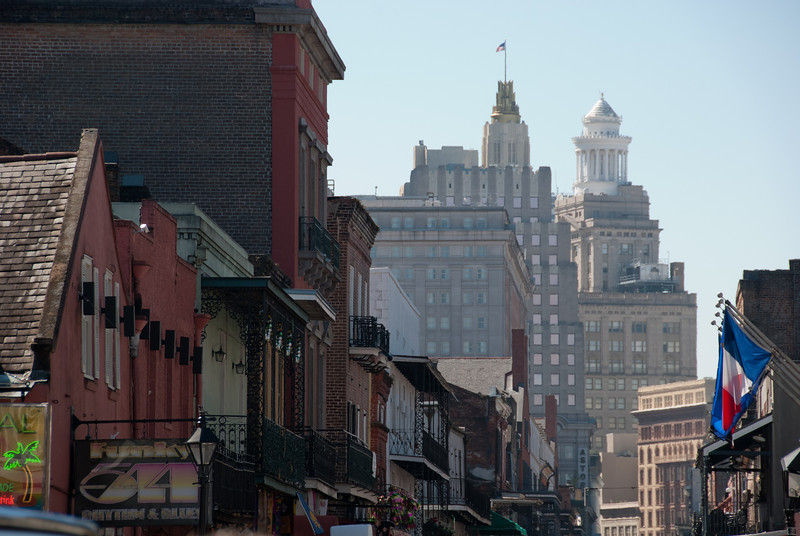 "<span id=""title"">Bourbon Street</span> <em>French Quarter</em> View towards downtown."