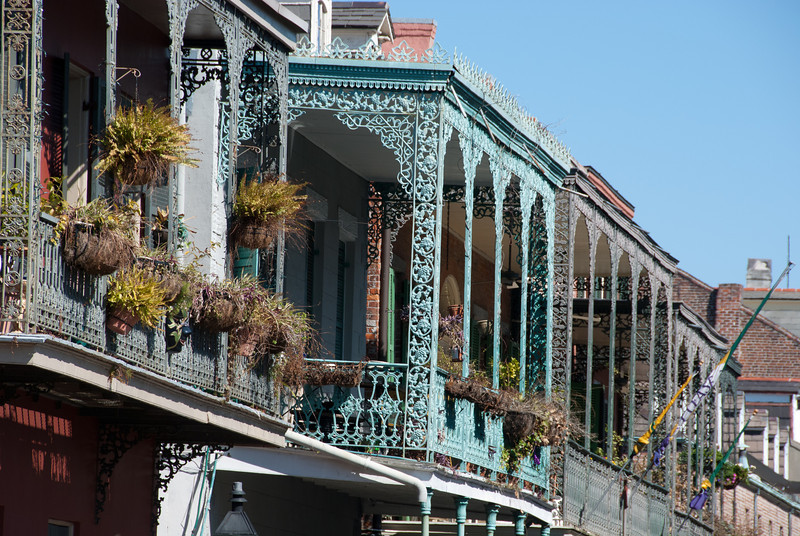 """<span id=""""title"""">Wrought Iron</span> <em>French Quarter</em> Impressive examples of the iron work associated with the French Quarter architecture."""