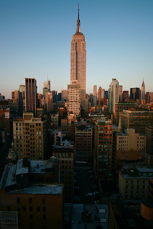 a view of the world famous Empire State Building.