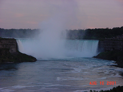 Niagara Falls are waterfalls on the Niagara River, straddling the international border between Ontario, Canada and New York State, US.