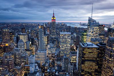 Manhattan from Rockefeller Center, New York, USA, 2009