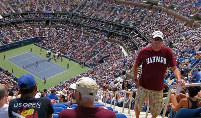 Ed @ Arthur Ashe Stadium. US Open, Flushing Meadows, New York, USA.