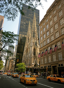 Saint Patrick's Cathedral @ Fifth Avenue. Midtown, Manhattan, New York, USA.