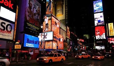 Yellow Cabs @ Broadway. Manhattan, New York, USA.