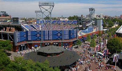 Louis Armstrong Stadium @ Flushing Meadows. Queens, New York, USA.
