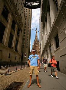 Trinity Church @ Wall Street. Lower Manhattan, New York, USA.