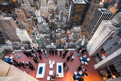 Business life from top of the roof, Rockefeller center, New York, USA, 2009