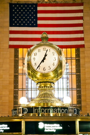 Clock in Grand Central Terminal, Manhattan, New York, USA, 2009