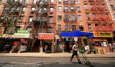 Het straatleven in Chinatown. Manhattan, New York, USA.