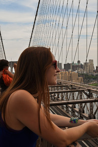 Sam on the Brooklyn Bridge