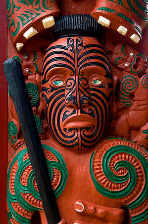 Maori Carving, Waitangi Treaty Grounds, Bay of Islands