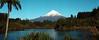 Mt Taranaki viewed across Lake Mangamahoe