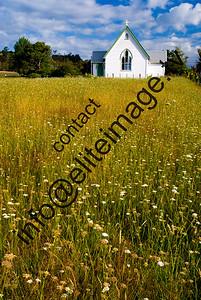 Old church moved to location near Kawakawa from Paihia in the Bay of Islands, New Zealand