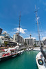 Racing yachts at the Auckland city waterfront, New Zealand, November 2016. [Auckland 2016-11 017 NewZealand]