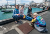 Lunch break for friends at the Auckland city waterfront, New Zealand, November 2016. [Auckland 2016-11 008 NewZealand]