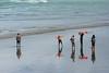 Tourists from Asia enjoy a morning at the beach, at Murawai, November 2016. [Murawai 2016-11 002 NewZealand]