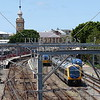 Trains and railways at the Port of Newcastle in New South Wales, Australia.