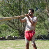 Natives plays a didgeridoo in Newcastle, New South Wales, Australia.