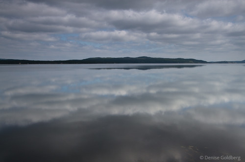 mirrored clouds, Terra Nova National Park, Newfoundland