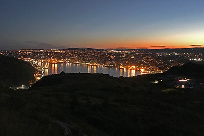 View from Signal Hill at night