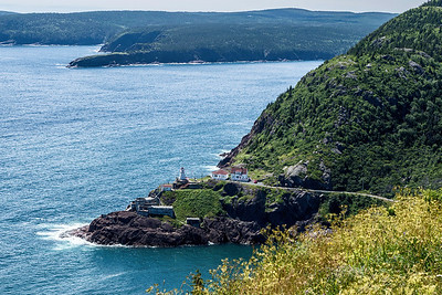 Fort Amherst Lighthouse at harbour entrance