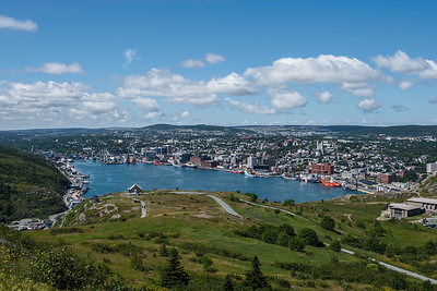 St. John's Harbour viewed from top of Signal Hill