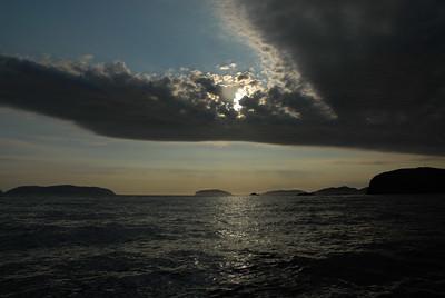 Sun setting, Newfoundland