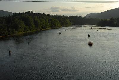 Salmon fishing Humber River, Newfoundland, July 2006