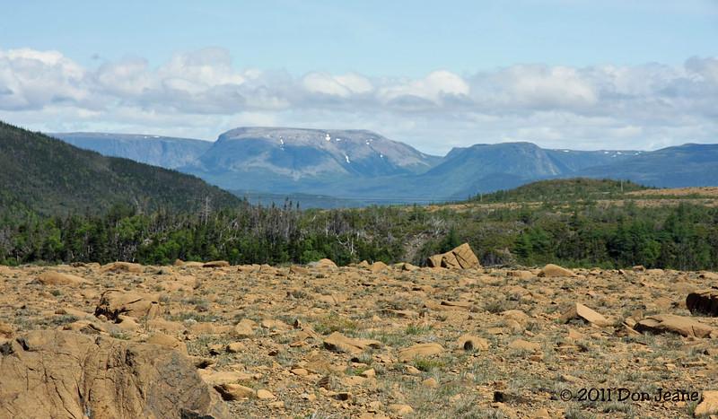 Tablelands Trail looking toward Bonne Bay, Gros Morne Natl Park, NL.