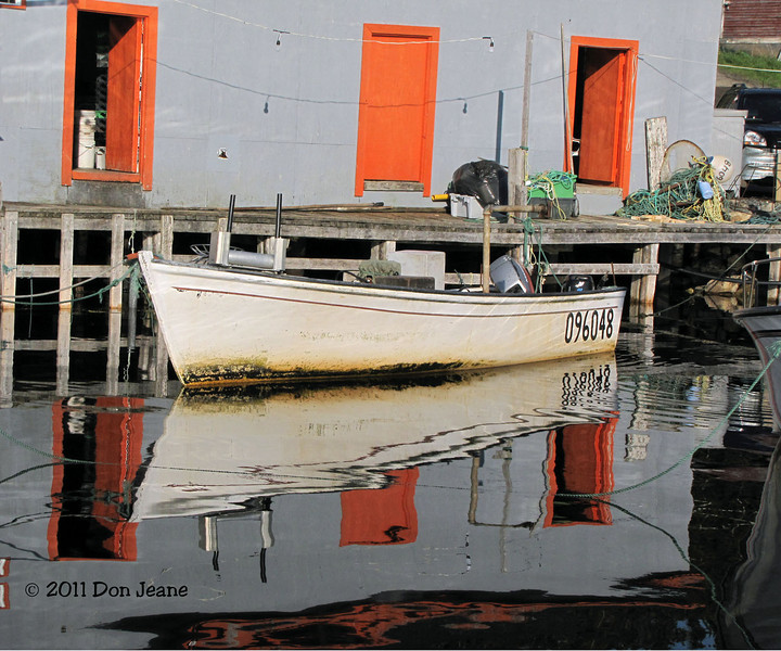 Reflections from the Lobster pound. Doyle Sansome Dining, Hillgrade, NL.