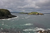 View from our campsite, Celtic Rendezvous by the Sea, Tors Cove, NL. Witless Bay Seabird Reserve.