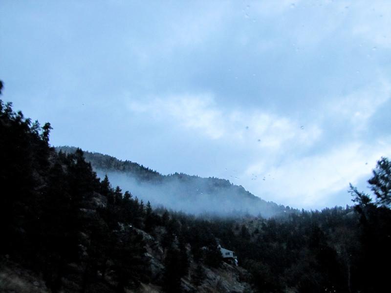 fog in canyon
