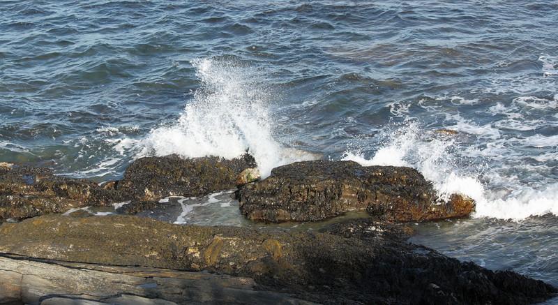 Pounding the rocks