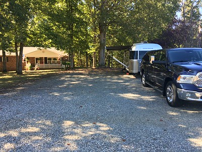 Our campsite at the farm