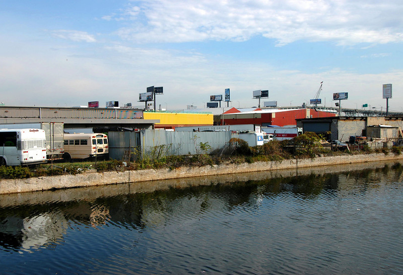 Newtown Creek bus lot.