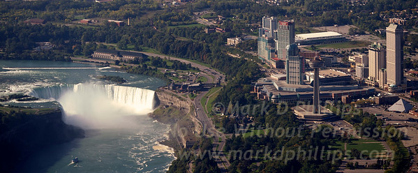 Niagara Falls, Horseshoe Falls, looking at Canada and the Fallsview District